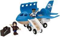 Самолет - Детска дървена играчка -
