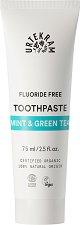 Urtekram Mint & Green Tea Toothpaste - Паста за зъби с мента и зелен чай, без флуорид - продукт