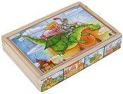 Приказен свят - 4 пъзела в дървена кутия - пъзел