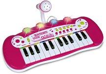 Електронен синтезатор с 24 клавиша и микрофон - Детски музикален инструмент -