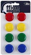 Цветни магнити за бяла дъска - Комплект от 8 броя