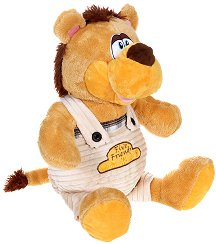 Лъвче с гащеризон - Плюшена играчка - играчка