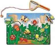 Хвани буболечките - Детски дървен пъзел с магнити - пъзел