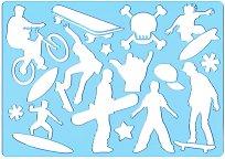 Фигурален шаблон - Скейтбордисти