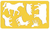 Фигурален шаблон - Животните във фермата