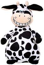 Кравичка - Усмихни се - Плюшена играчка със звуков ефект - хартиен модел