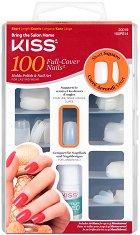 Изкуствени нокти с квадратна форма - Short Square - Комплект от 100 броя нокти и лепило - продукт