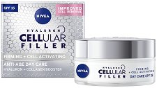 """Nivea Cellular Filler Firming + Cell Activating Anti-Age Day Care - SPF 15 - Дневен крем за лице против бръчки от серията """"Firming + Cell Activating"""" - крем"""