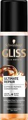 """Gliss Ultimate Repair Express Repair Conditioner - Спрей балсам без отмиване за суха и увредена коса от серията """"Ultimate Repair"""" - шампоан"""