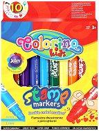 Маркери за рисуване - Комплект от 10 цвята с печати