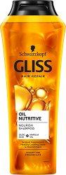 """Gliss Oil Nutritive Shampoo - Подхранващ шампоан за много суха и изтощена коса от серията """"Oil Nutritive"""" - шампоан"""