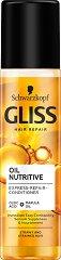 "Gliss Oil Nutritive Express Repair Conditioner - Спрей балсам без отмиване от серията ""Oil Nutritive"" - крем"