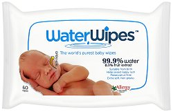Бебешки мокри кърпички - WaterWipes - Опаковка от 60 броя - душ гел