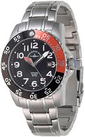 "Часовник Zeno-Watch Basel - Black + Orange 6350Q-a1-5M - От серията ""Airplane Diver II"""