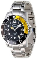 "Часовник Zeno-Watch Basel - Black + Yellow 6350Q-a1-9M - От серията ""Airplane Diver II"""