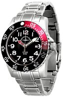 "Часовник Zeno-Watch Basel - Black + Red 6350Q-a-7M - От серията ""Airplane Diver II"""