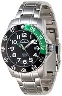 "Часовник Zeno-Watch Basel - Black + Green 6350Q-a1-8M - От серията ""Airplane Diver II"""
