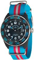 "Часовник Zeno-Watch Basel - H3 Teflon - Black/Blue - Nylon 6594Q-a14-Nato-47 - От серията ""H3"""