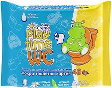 Бебешки мокри кърпички - Play Time WC - мокри кърпички
