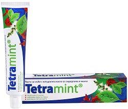 Паста за зъби - Tetramint - С цялостна грижа за устната кухина - шампоан