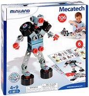 Роботи, коли и машини - 6 в 1 - Детски конструктор -