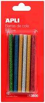 Цветни силиконови пръчки с брокат - продукт