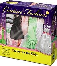"""Декорирай сама рокли за кукли - Творчески комплект от серията """"Creativity for Kids"""" - творчески комплект"""