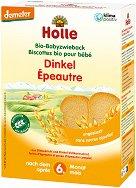 Holle - Бебешки био сухари от спелта - Опаковка от 200 g за бебета над 6 месеца - пюре