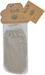 Ръкавица за баня от бамбук и лен - мокри кърпички