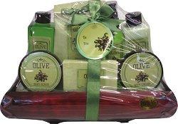 Olive No.04 - Подаръчен козметичен комплект за тяло с масло от маслина -
