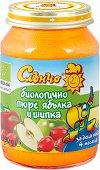Слънчо - Био пюре от ябълки и шипки - Бурканче от 190 g за бебета над 4 месеца - продукт