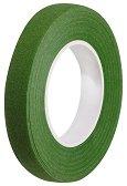 Цветно тиксо от креп хартия - зелено - Широчина 1.2 cm