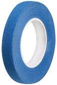 Цветно тиксо от креп хартия - синьо - Широчина 1.2 cm