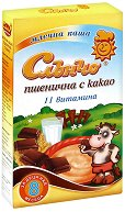 Инстантна млечна каша - Пшеница с какао - Опаковка от 200 g за бебета над 8 месеца - чаша