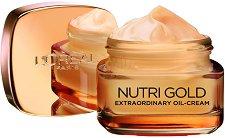 L'Oreal Nutri-Gold Extraordinary Oil Cream - Подхранващ дневен крем с антиейдж ефект - крем