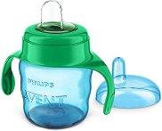 Преходна чаша с дръжки и мек накрайник - 200 ml - За бебета над 6 месеца -