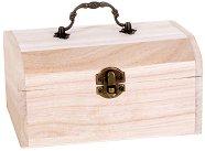 Дървена ракла с дръжка - Предмет за декориране