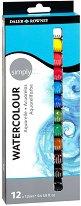 """Акварелни бои - Комплект от 12 цвята от серията """"Simply"""""""