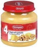 Пюре от царевица с картофи - Бурканче от 125 g за бебета над 4 месеца - пюре