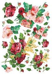 """Декупажна хартия - Червени рози 155 - Серия """"Digital Collection Mulberry"""""""