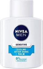 """Nivea Men Sensitive Cooling After Shave Balm - Охлаждащ балсам за след бръснене за чувствителна кожа от серията """"Sensitive"""" - маска"""
