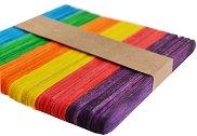 Декоративни дървени пръчици - Цветни - Комплект от 50 броя