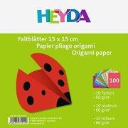 Едноцветни хартии за оригами