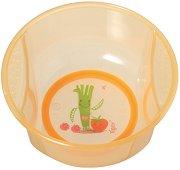 Оранжева купичка за хранене - За бебета над 6 месеца -
