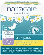 Natracare Ultra Pads Long - Дамски превръзки с крилца в опаковка от 10 броя - продукт