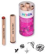 Гумени печати - Рози и листа - Комплект от 5 броя - продукт