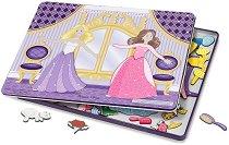 Облечи принцесите за бала - Детски комплект с магнити - фигура