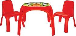 Маса с две столчета - King - Комплект мебели за деца -