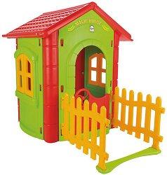 Детска сглобяема къща за игра с ограда - Magic House - играчка
