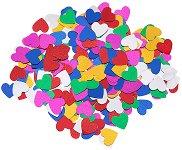 Декоративни фигурки - Разноцветни сърца - Опаковка от 15 g